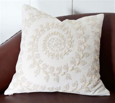 Beaded Snowflake Embellished Pillow Cover Pottery Barn by Embellished Beaded Pillow Covers Pottery 28 Images Nwt