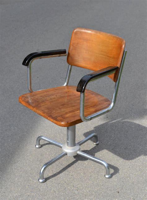 chaise de bureau antique chaise de bureau vintage roulettes