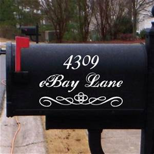 Mailbox lettering for Mailbox letters
