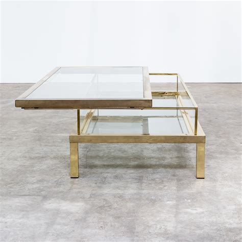 50s Beautiful French Maison Jansen Sliding Coffee Table