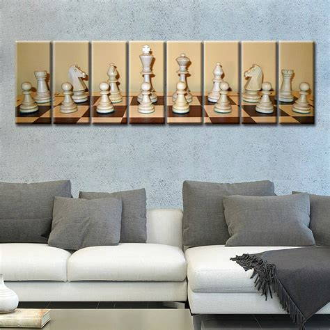 8 pieces large picture room decor fashion gift chess artwork painting print canvas modern home
