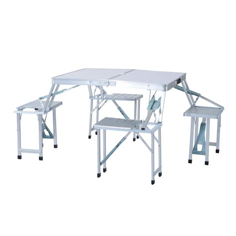 outsunny height adjustable folding outdoor picnic table w