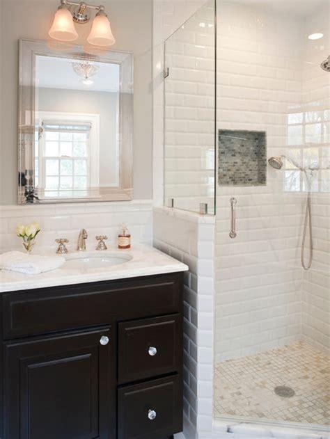 white subway tile shower ideas pictures remodel  decor