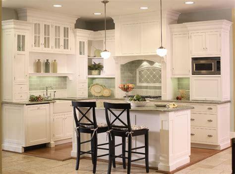 white kitchen  bead board  green tile backsplash