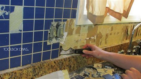 tile removal  remove  tile backsplash