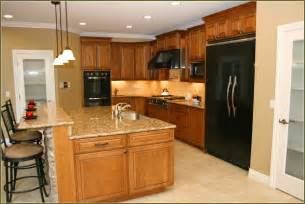 kitchen color ideas with maple cabinets cherry cabinets with granite home design ideas