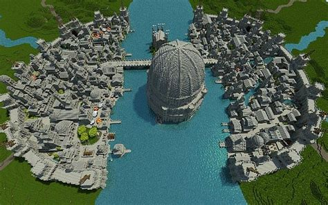osgiliath ancient capital  gondor minecraft building