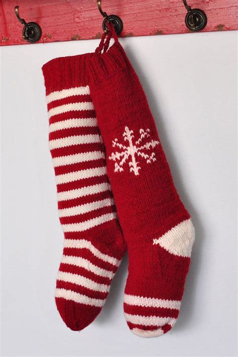 ideas  knitted christmas stockings  pinterest
