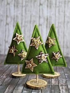Weihnachtsbäume Aus Holz : basteln und n hen zu weihnachten kleine weihnachtsb ume aus filz ~ Orissabook.com Haus und Dekorationen