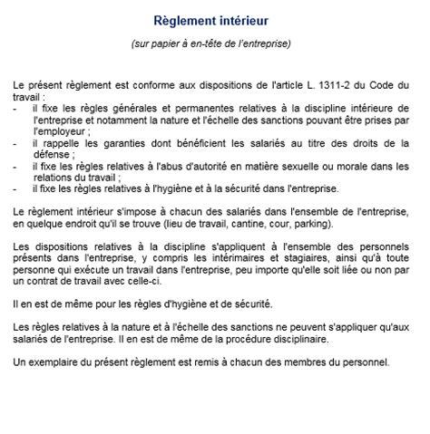 le r 232 glement int 233 rieur pr 233 cise les obligations des