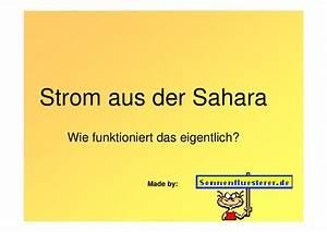 Strom Aus Der Spraydose : strom aus der sahara ~ Eleganceandgraceweddings.com Haus und Dekorationen