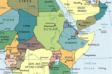central africa map pictures