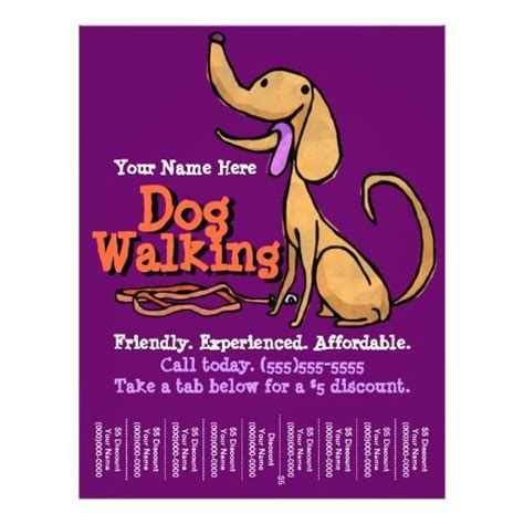 walking dog flyer flyers advertising promotional training business pet walker dogs zazzle template sitter promo create explore funny visit meme