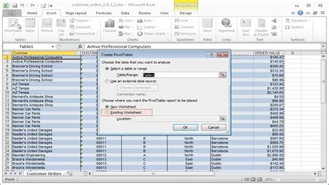excel spreadsheet pivot table create a pivot table now it s your turn