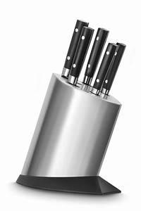 Sabatier, International, Steel, Knife, Block, With, 5, Knives