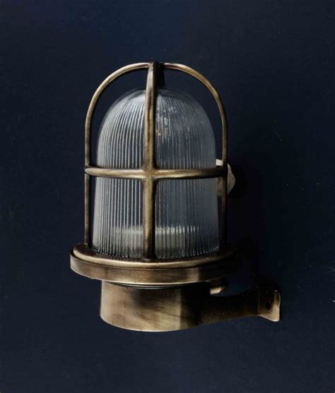 bulkhead light simon aged brass wall light