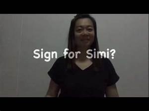 #SgSL Sign for Simi? - YouTube