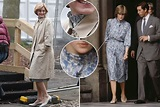 Emma Corrin spotted filming 'The Crown' as Princess Diana