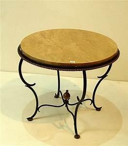Table Basse Fer Forgé : table basse pi tement en fer forg ~ Teatrodelosmanantiales.com Idées de Décoration