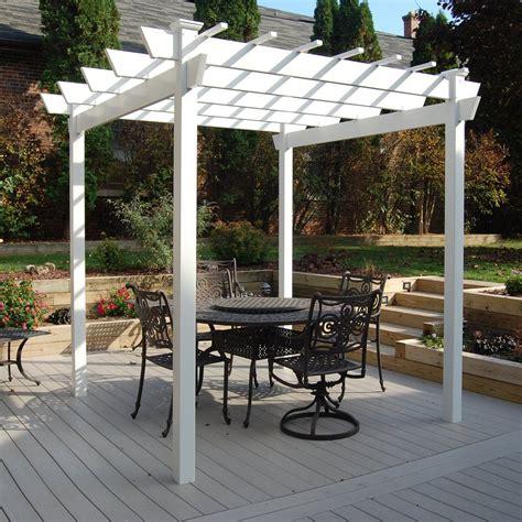outdoor l post lowes shop dura trel 8 ft x 9 ft x 9 ft white vinyl freestanding