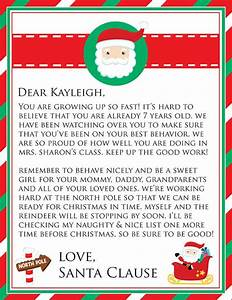 personalized printable letter from santa With custom letter from santa