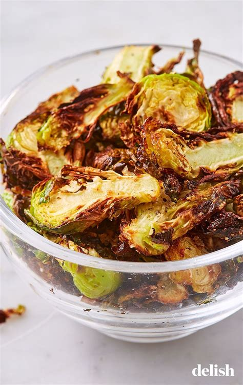 recipes recipe delish fryer air chips sprout brussels brussel snack keto sprouts parmesan smarter garlic these