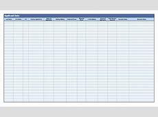 Recruitment Applicant Data Log Template Excel Templates