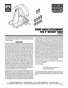 3701 Sherline Right Angle Attachment Instructions