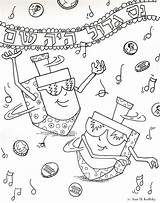 Hanukkah Coloring Chanukah Pages Dreidel Printable Cute Purim Christmas Hannukah Drawing Fun Symbols Menorah Happy Holiday Dreidels Crafts Story Jewish sketch template