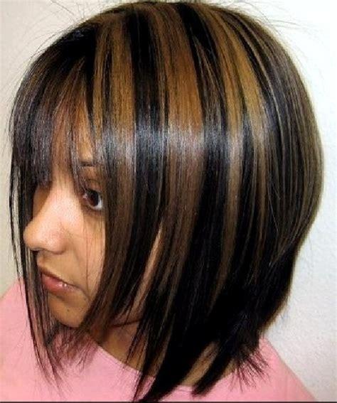 couleur de cheveux noir avec meche caramel atelier de stefani