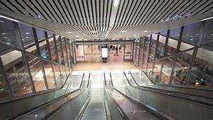 Sweden  Stockholm City Train Station  3x Escalator Ride - Going Down To Platform Level