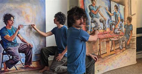 Pelukis Ini Melukis Dirinya Sendiri 'Berlapi-lapis' Dengan ...
