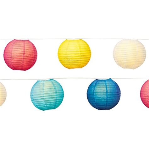 8 quot multi color paper lantern string light 10ct target