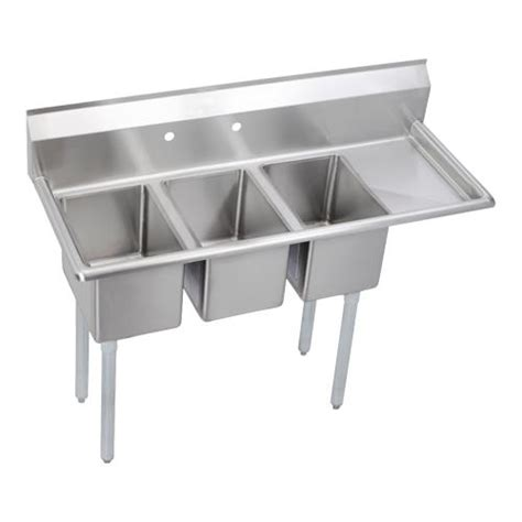 3 compartment kitchen sink elkay 3c10x14 r 12x deli 48 1 2 in 3 compartment sink