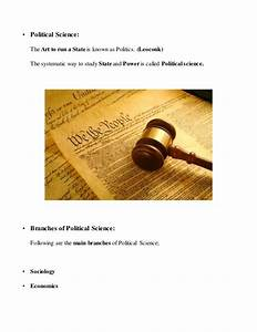 Traditional And... Political Science