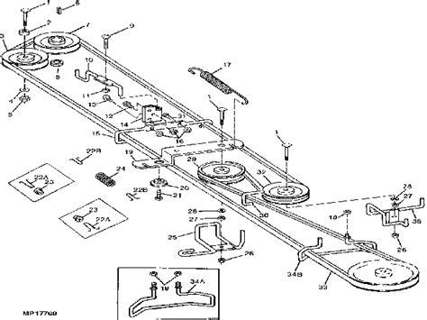 Deere Stx38 Yellow Deck Manual by Deere Stx38 Drive Belt Diagram Mower Belts