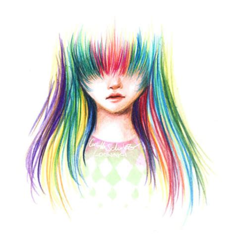 awesome colorful design drawing girl image