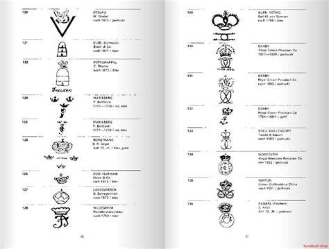 Porzellanmarken Stempel übersicht by Kunstbuch Shop De Ursula Banz