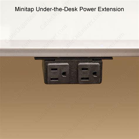 mount power strip under desk minitap under the desk power extension cableorganizer com