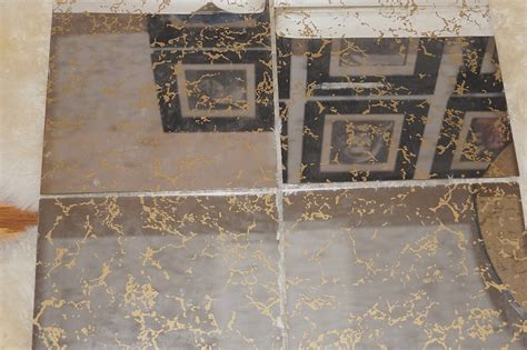 12x12 mirror tiles for walls 70s mid century modern gold veined glass mirror tiles 1970s