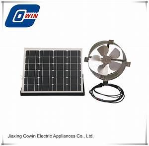 China Solar Powered Attic Ventilator Gable Roof Vent Fan