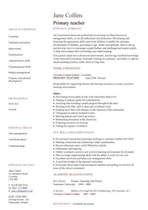 primary school resume best resume collection