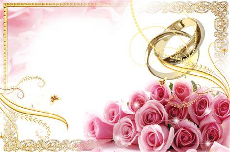 transparent wedding frame  rings  pink roses