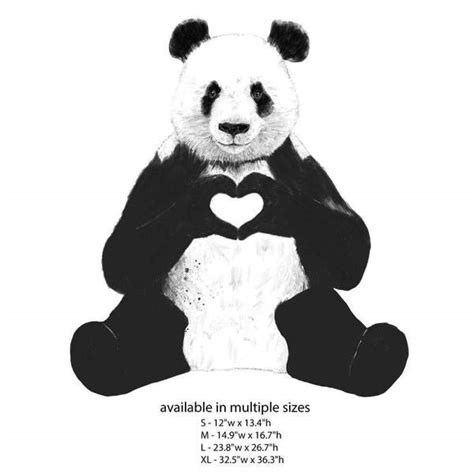 love sitting panda wall sticker decal