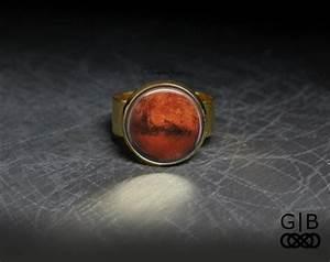 Mars Ring Planet Mars Adjustable Ring Mars Planet Ring