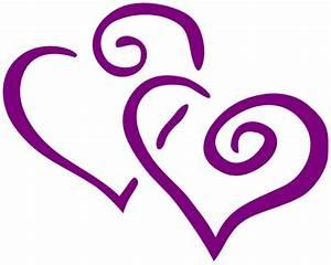 Dark Purple Heart Wedding Clip Art at Clker.com - vector ...