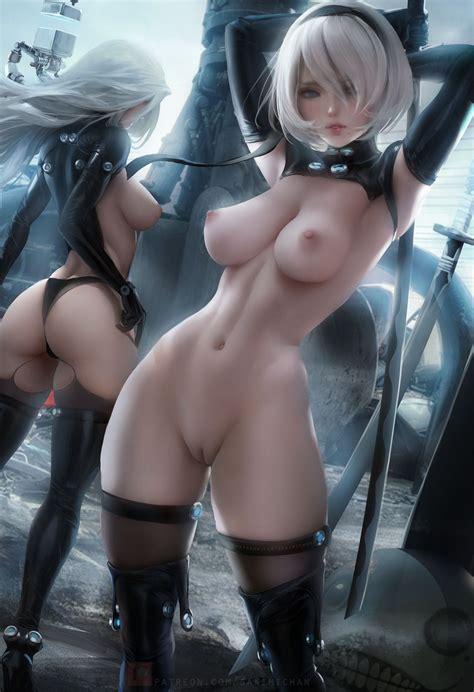 nude yorha 2b and topless a2 [nier automata kamikazemonk