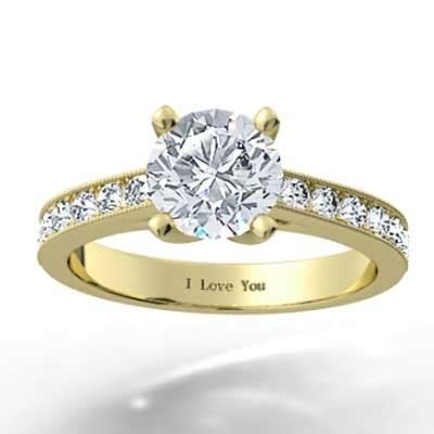 14k yellow gold engagement rings channel set engagement ring 14k yellow gold