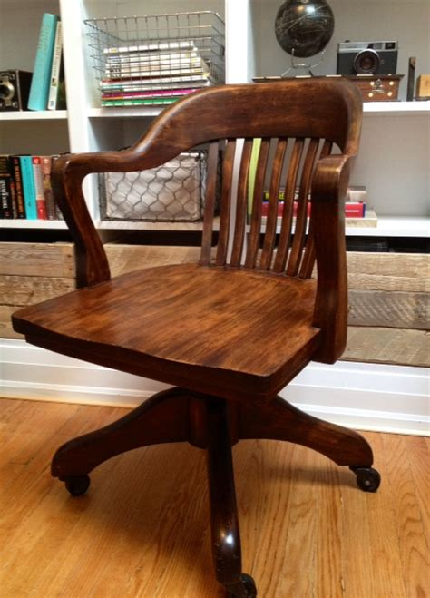 Antique Wood Bankers Chair by When It Rains It Pours The Chair Hunt Part Ii
