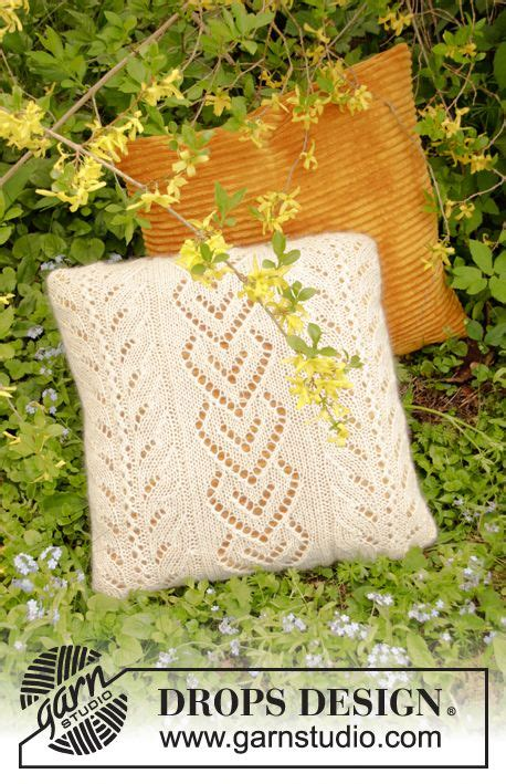 waterford pearl pillow ornament the pearl pillow knitted pillow with lace pattern in drops nord and drops kid silk fits